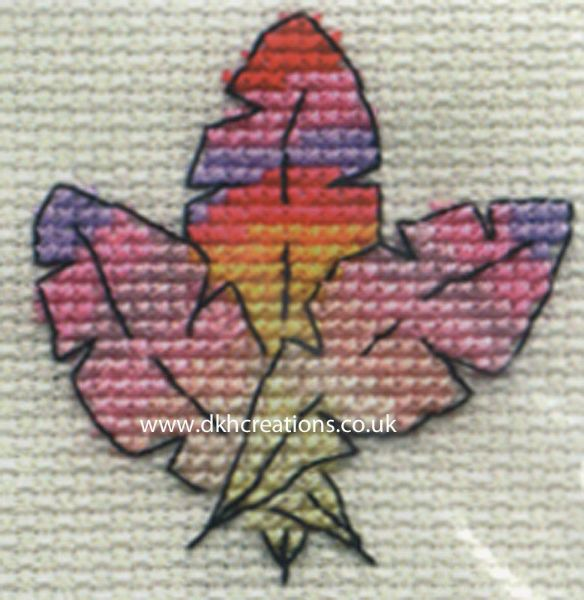 Colourful Feathers Cross Stitch Kit